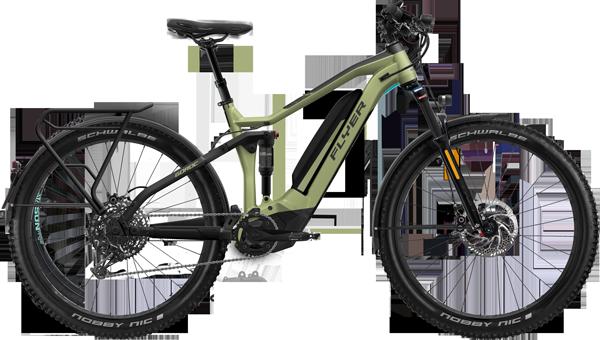 FLYER_E-Bikes_Goroc4_650_Fullsuspension_HS_OliveMetMatt_BlackMatt